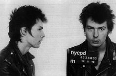 Sid Vicious, photographed after his arrest for the murder of Nancy Spungen, was a punk rock icon and bassist for the Sex Pistols. Sid was notorious for his tumultuous relationship with Nancy. Months after the band broke up, she died from a single stab wound. Sid was the chief suspect, but due to drug use he had no memory of the night's events. Two months after his arrest, he was released from Rikers Island prison and overdosed on heroin, at age 21.