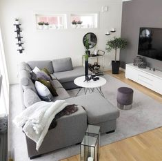 45 Modern And Minimalist Living Room Design Ideas Apartment Living Room design ideas living Minimalist Modern room Cozy Living Rooms, Living Room Grey, Living Room Modern, Apartment Living, Living Room Designs, Living Room Decor, Small Room Design, Minimalist Living, Modern Minimalist