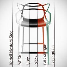 Kartell Stool Masters Chair Philippe 3D Model - 3D Model