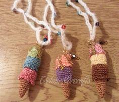 Mini Crochet Ice cream Necklace