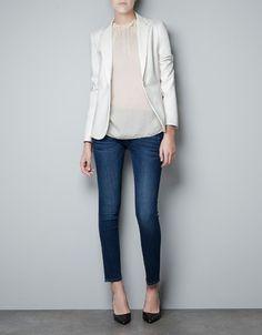 White blazer & white top