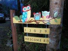 From Week 2--Whooo Lives Here Welcome Sign!
