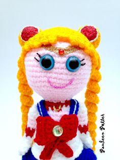 Sailor Moon inspired ooak amigurumi doll - FREE SHIPPING by PauleenPotter on Etsy