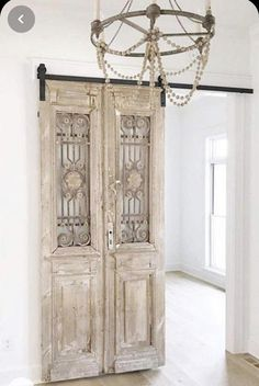 Vintage Doors, Antique Doors, Exterior Doors, Interior And Exterior, Interior Design, Door Design, House Design, Reclaimed Doors, Inside Barn Doors