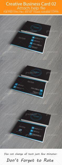 Creative Business Card 02 by hazratali2020.deviantart.com on @DeviantArt
