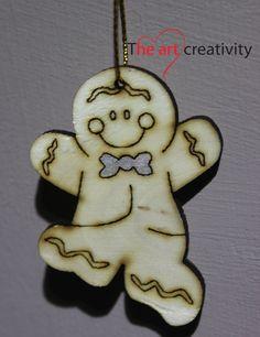 "Addobbo in legno ""Ginger bread men""  http://www.theartcreativity.com/"