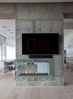 27 Glass Fireplaces To Watch the Fire From All Angles | DigsDigs