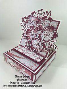 Using the Stampin' Up! Blossoms and Bloom Bundle. To shop anywhere in Australia click link teresabrownstamping.stampinup.net Happy Stamping Teresa Stampin Up Cards, Blossoms, Stamping, Decorative Boxes, Australia, Link, Happy, Shop, Flowers
