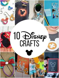10 Disney Crafts to Make for Disney World Vacations! So many cute ideas the kids will love!