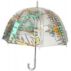 New York Subway Map Umbrella Bubble Umbrella, Clear Umbrella, Under My Umbrella, Cute Umbrellas, Umbrellas Parasols, New York Subway, Nyc Subway, I Think Map, World History Lessons