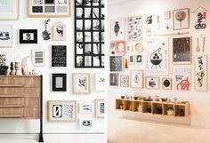 44 meilleures images du tableau mur de cadre wall of. Black Bedroom Furniture Sets. Home Design Ideas