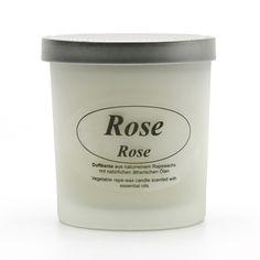 Kerzenfarm Přírodní svíčka Rose, mléčné sklo 8 cm