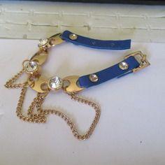 Bracelet simili cuir bleu