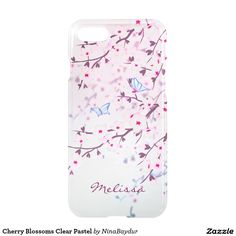 Cherry Blossoms Clear Pastel
