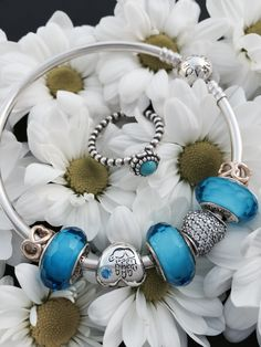 Buy Hot sell DIY Silver Charm Bracelet Murano Glass Beads at Wish - Shopping Made Fun New Pandora Bracelet, Pandora Rings, Silver Charm Bracelet, Pandora Jewelry, Charm Jewelry, Silver Charms, Pandora Charms, Beaded Jewelry, Charm Bracelets