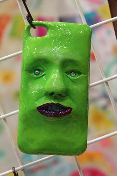 Green Face Phone Case at Design Festa vol.41