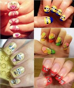 Cute Carton Nail Ideas