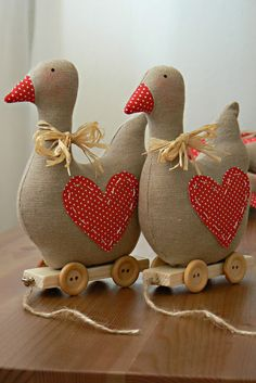 These would be cute with a few ducklings following behind.