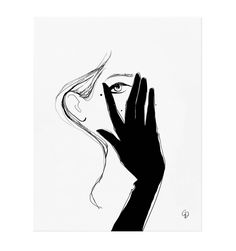 Glove Illustrated Art Print Created in partnership with French illustrator, author, and photographer Garance Doré.