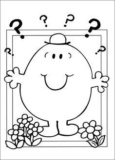 Mr. Men Tegninger til Farvelægning. Printbare Farvelægning for børn. Tegninger til udskriv og farve nº 12
