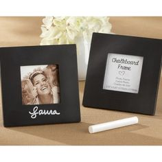 """""""Chalkboard"""" Square Black Frame 