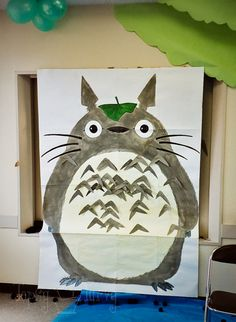 totoro 3rd birthday party pin the markers on the totoro