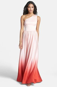 Ted Baker London Single Shoulder Ombré Maxi Dress #weddingguest