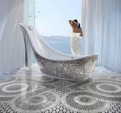 Modern Shoe Shaped Bathtubs By SICIS | yes please!