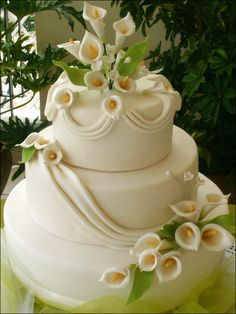 Calla Lily Wedding Cake Decorations