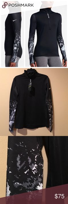 ‼️NWT‼️NIKE RUNNING 3/4 ZIP UP SWEATER ‼️BRAND NEW ‼️ WITH TAGS‼️ NIKE ZIP UP SWEATER. Has a 3/4 zipper, with white and gray camouflage type print on the sleeve, thumb holes, dry fitness wear. ❌TRADE❌ 💗OPEN TO OFFERS 💗 🔥🔥DEALS ON BUNDLE ORDERS🔥🔥. Ask about FREE SHIPPING 📦 Nike Jackets & Coats