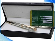 Ballpoint Pen Silver with gold color Metal Wood Box Gorgeous Gift #Unbranded