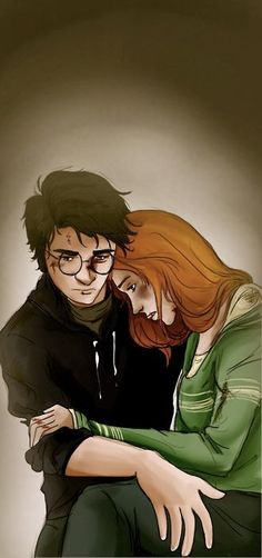 Beautiful. Harry and Ginny after the war. At first I thought it was James and Lily.