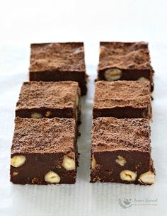 These Chocolate, Hazelnut & fig squares is a fuss free nutty chocolate recipe and is best served with a cup of hot coffee or vanilla ice cream