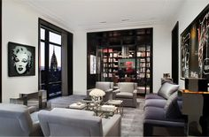 Completely love this space in the Trump World Tower Penthouse
