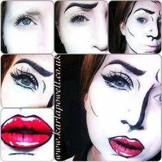 Mime pop make up idea