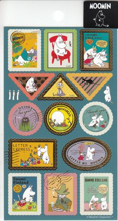 Moomin Gold Stamp Style Stickers M026-04 by SweetSuppliesStore