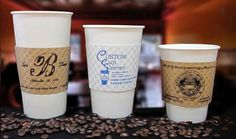 Custom Cup Sleeves provides personalized printing services on high quality and Eco-friendly coffee sleeves made by Java Jacket.