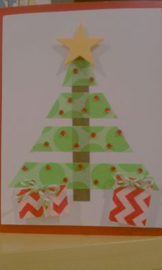 Washi tape Christmas card.