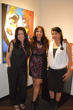 """We had such a great turn out, despite the weather, for our new exhibit """"The Pahiitu"""". Our new exhibit highlights three very talented Comanche Contemporary Artists: Ed Hoosier, Cynthia Clay, and J. NiCole Hatfield. Their artwork will be on display until August 29, 2015."""