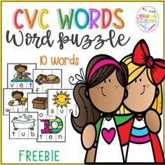 Short vowels CVC words vocabulary puzzle game FREEBIE by Mrs Sarah Diogenes Literacy Games, Vocabulary Games, Literacy Stations, Literacy Centers, Three Letter Words, Cvc Words, Daily 5 Activities, Social Studies Resources, Puzzle Games