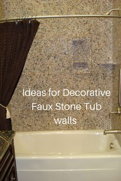 Ideas For Easy To Install DIY Decorative Faux Stone Tub And Shower Wall  Panels In This