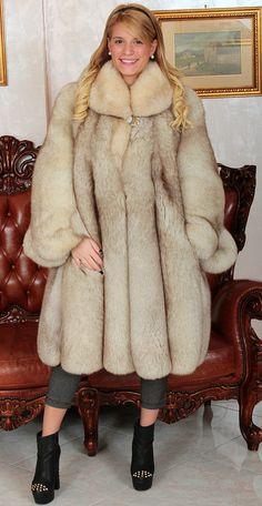 Blue Fox Fur Coat Pelz Mantel Blau Fuchs Fourrure Renard Pelliccia Volpe Mexa | eBay