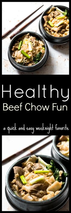 This Beef Chow Fun Recipe is a favorite Cantonese noodle dish which combines stir-fried flat rice noodles with crisp fresh bean sprouts and slices of beef with sweet and salty seasoning. via @wholefoodbellies