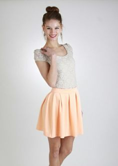 Flowy Short Skirt ~ Fitted Top