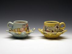 Chandra DeBuse mug set.