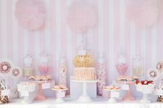 We received this beautiful dessert table from Daisy at Leo & Bella, This pink and gold dessert table was put together for a little girls 1st birthday party. All of the sweets were baked by the little girl's mother.