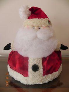 Flor de madeira- Cobre Bolo de Papai Noel