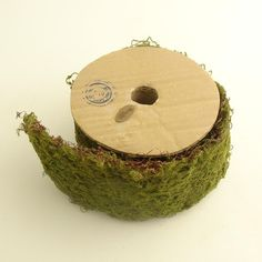Roll of Green Wired moss ribbon-oh the uses I could imagine for this!