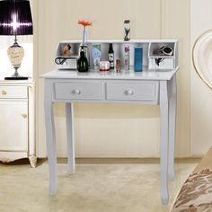Songmics® Schminktisch Frisierkommode Frisiertisch Kosmetiktisch Sekretär Schreibtisch weiß, Holz, RDT80W: Amazon.de: Küche & Haushalt