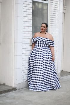 Gown Goals | Plus Size Prom Dress | Gingham Print Dress | Plus Size Gown